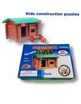 Kids construction logs puzzle game