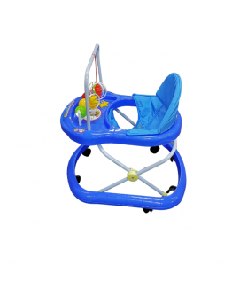 Portable Padded Cushion Baby Walker anti-rollover with music toy car