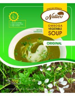 Omboga Vegetable Soup (Original) 50g 60 packs Box