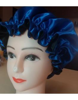 Blue and Black Bonnet - Headgear for women