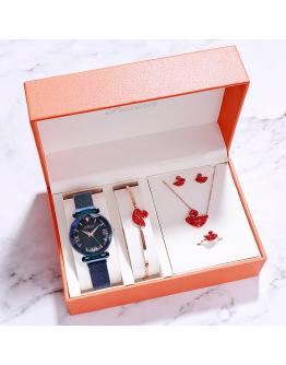 5 piece magnetic band gift watch